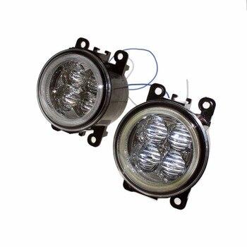 For Subaru Outback 2010-2011 2012 Car Styling Bumper Angel Eyes LED Fog Lamps DRL Daytime Running Fog Lights OCB Lens