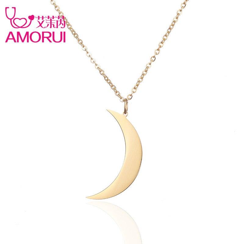 collier ras de cou argent lune
