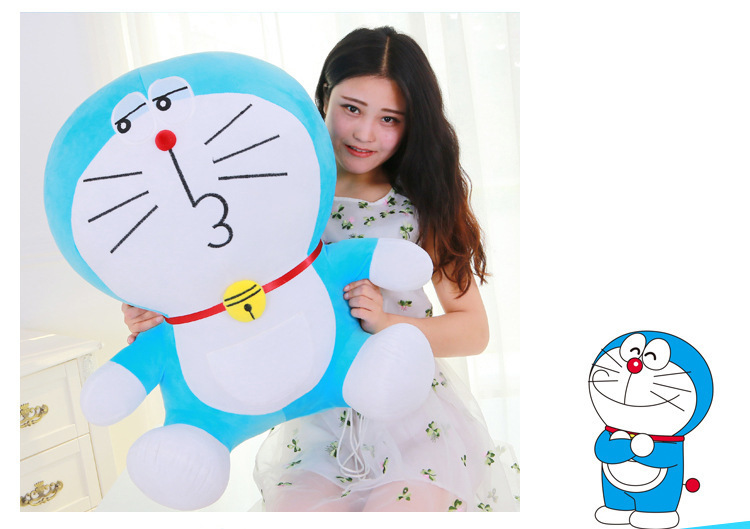 huge lovely plush new blue doraemon toy stuffed big kissing doraemon doll gift about 70cm 0041
