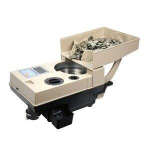 Электронный автоматический счетчик монет 110В/220В YT-518/CS-200 английская версия машина для подсчета монет 1-9999 предустановленный диапазон сортир...