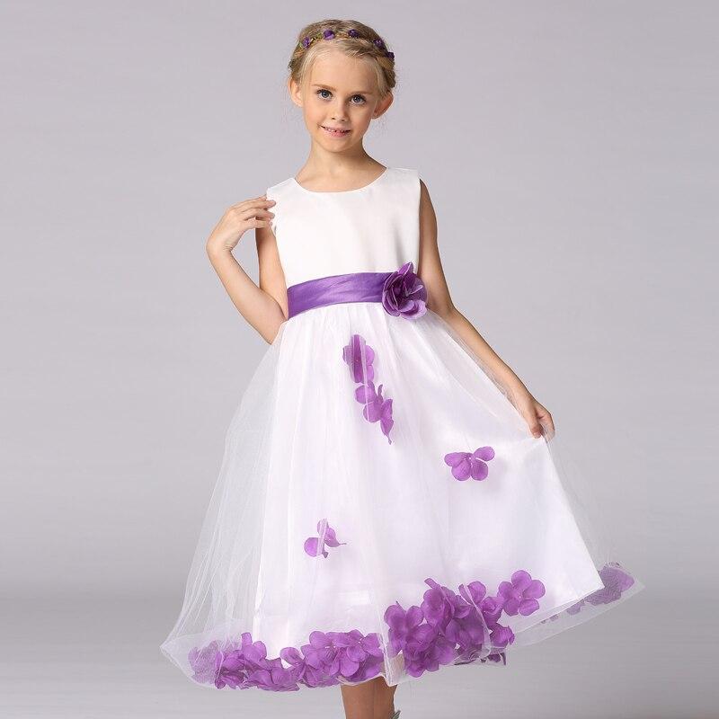 Retail Summer Children girl flower long dress Girl party Evening Dresses LP56