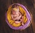 Adereços Estúdio bebê Beanbag Fabrices Recém-nascidos Envoltório Macio Beanbag Tecido Posando Foto Prop Branco Dot Pipoca Cobertor Cesta Stuffer