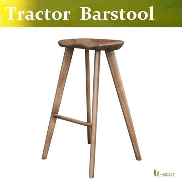 Free shipping U-BEST Tractor Stool collection designed by Craig Bassam and Scott Fellows solid wood Tractor bar Stool in  Walnut scott howard барный стул scott howard lem style piston stool кожа черная
