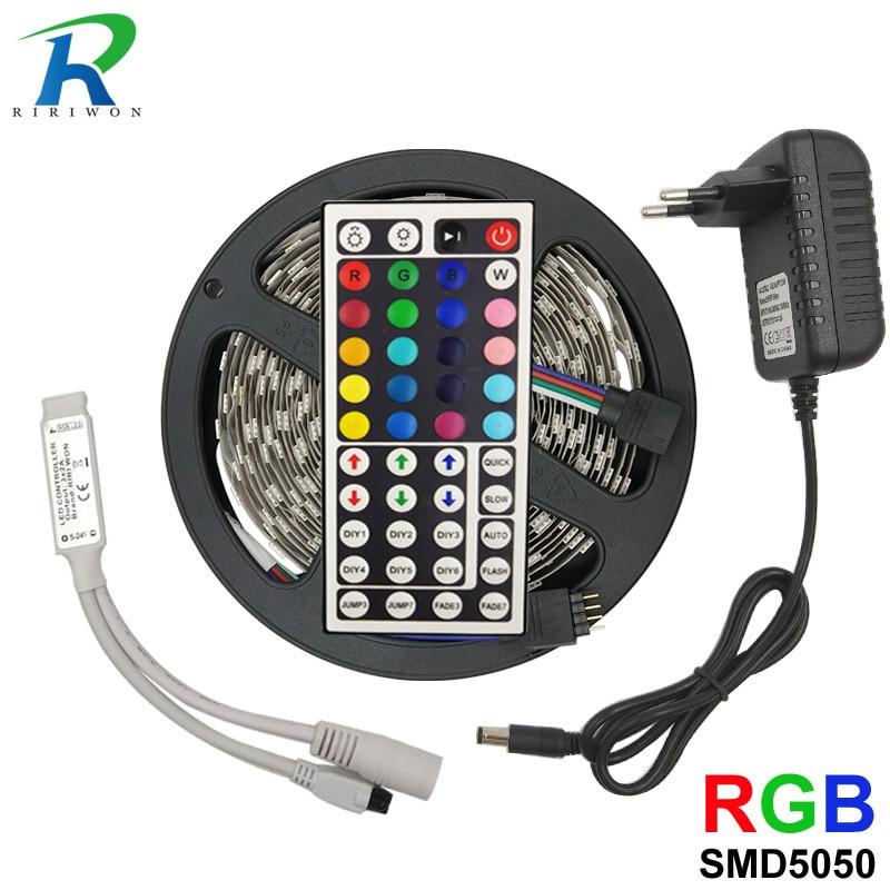 24Key Remote 6A Power 3528 SMD RGB 5M 10M 15M 20M 50M LED Strip Light Tape