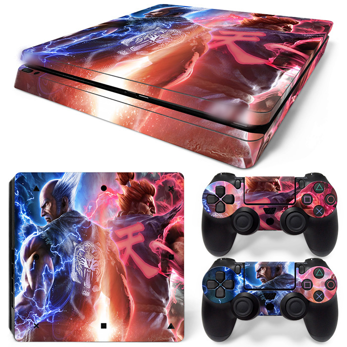 Gratis Drop Shipping för PS4 Slim Playstation 4 Slim Console Skin Dekal Sticker TN-P4Slim-1502