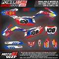 Customized Team Graphics Backgrounds Decals 3M AMS Stickers For CRF 250 450 R X CRF250 CRF450 CRF250L MX Enduro Racing Dirt Bike