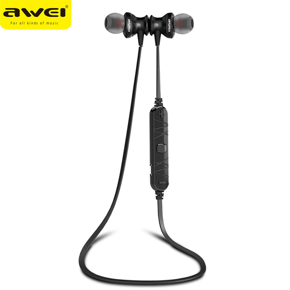 bilder für Original awei a980bl bluetooth drahtlose sport musik kopfhörer hifi stereo noise cancelling headsets auriculares für handy