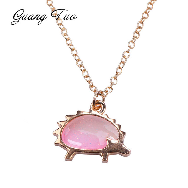 N140 Fashion Jewelry Women Pendant Necklace For Women Girl Hedgehog Animal Geometric Charm Clavicle Chains Necklaces Collares