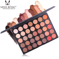 Professional 35 Color Shimmer Matte Eyeshadow Palette Sexy Fashion Beauty Makeup Set Smoky Nude Eye Shadow Matte Cosmetic Kit