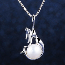 2017 New Fashion Necklace S925 Sterling Silver Natural Freshwater Pearls Mermaid Pendant Trendy  For Women Jewelry sa6021