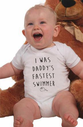 Summer Funny Jumpsuit I Was Daddy's Fastest Swimmer Baby Cotton Romper Outfit Letters Print Newborn Baby Infant Playsuit