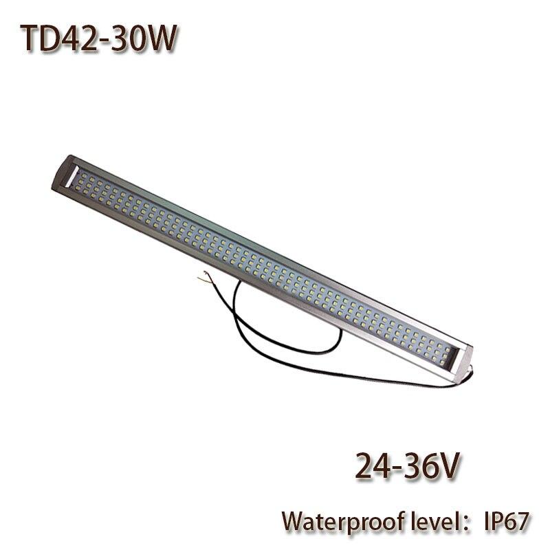 HNTD 30 วัตต์ DC 24 โวลต์นำโคมไฟทำงานระเบิดกันน้ำ IP67 TD42 นำแสงแผงเครื่อง CNC เครื่องมือแสง quaility สูง