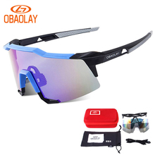 OBAOLAY 2017 Occhiali Ciclismo TR90 Cycling Glasses Sport sunglasses For Bicycle Bike men MTB UV400 Eyewear riding goggles 2Lens
