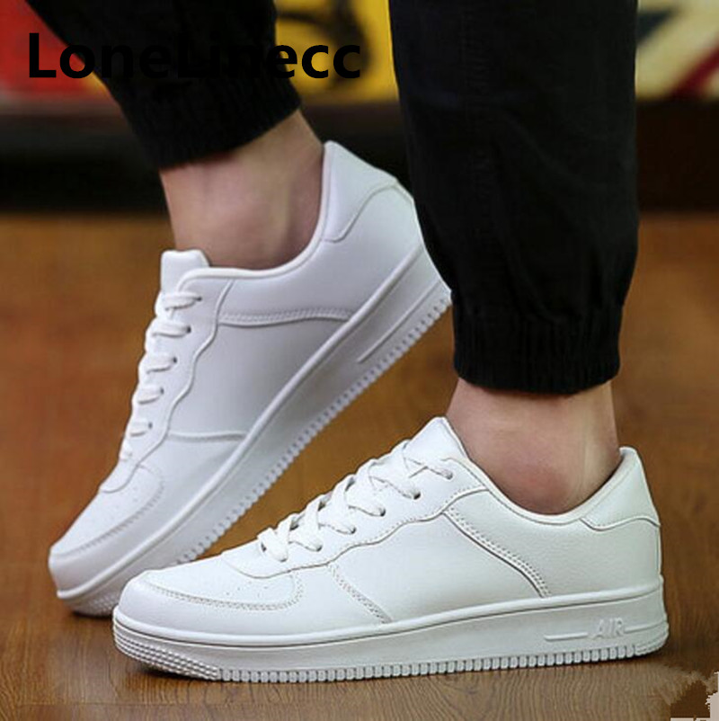 Spring new Korean version mens casual leather shoes men trend black Increase board shoes Student Breathable Walking male shoes
