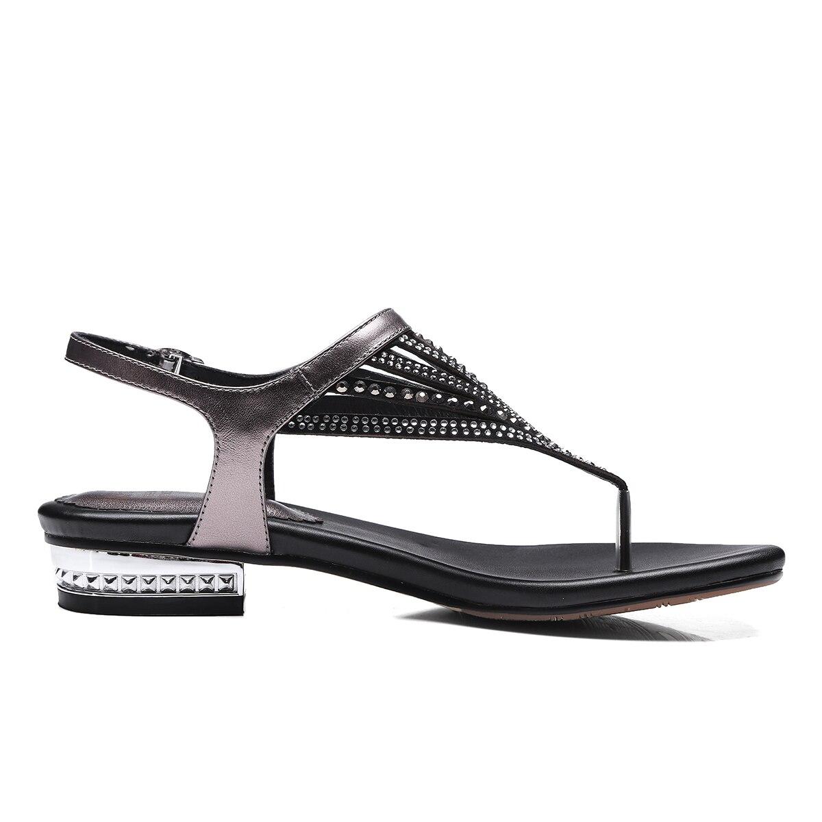 Rond Bout Cuir Style Dames Femmes Plates Chaussures Nemaone Main Nouveau Bohême Véritable En Marque qtTEwHEp