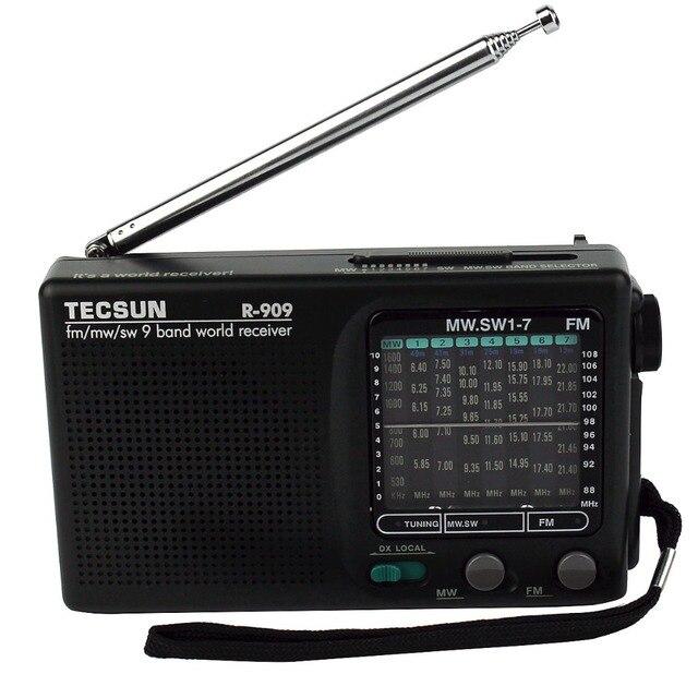 Лучший TECSUN R-909 Радио FM/AM/SW Радио Многополосный Радиоприемник Портативный DX/LOCAL Чувствительность Y4140A Fshow