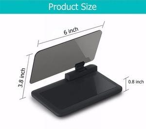 Image 5 - Cabeça up display gps navegação carro traço montar titular do telefone celular filme reflexivo, veículo hud smartphone suporte de montagem para iphone