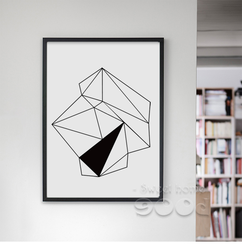 Geometric Diamond Canvas Art Print Painting Poster Wall Pictures For Home Decoration Frame not include YE109-in Painting u0026 Calligraphy from Home u0026 Garden ... & Geometric Diamond Canvas Art Print Painting Poster Wall Pictures ...