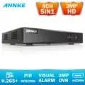 ANNKE DVR 8CH Camera 3MP TVI/CVI/AHD/IP/CVBS 5 in 1 DVR NVR Digital Video Recorder CCTV Security System Surveillance