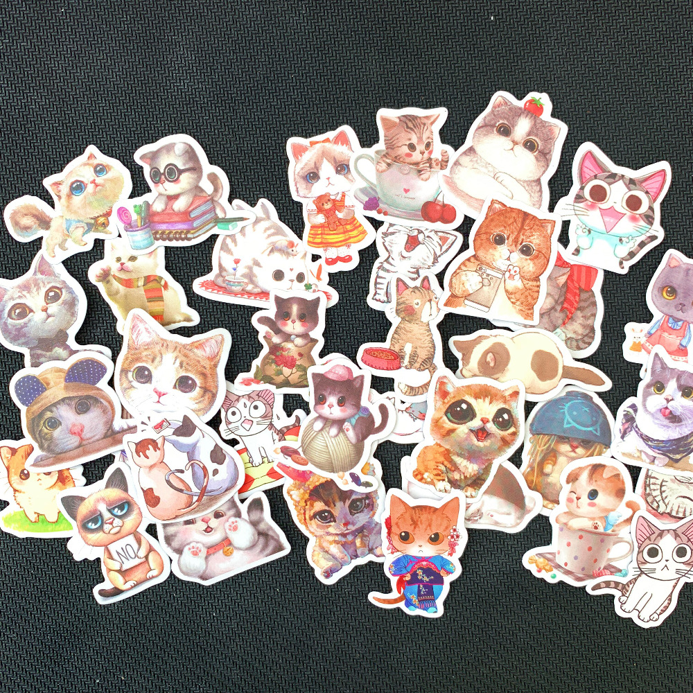 1 Pack Kawaii Cat  Decorative Stickers DIY Scrapbooking Diary Album Stick Label Party Decor Kids Gift