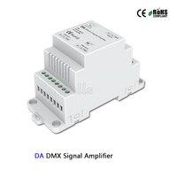 DA DMX512 Signal Amplifier controller DC5 24V DIN Rail led DMX Amplifier 1CH input 2ch output for led strip DMX signal extender|RGB Controlers| |  -