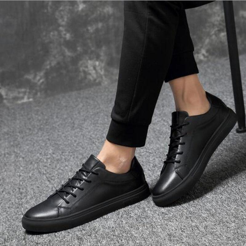 2018 Män Solid Color Casual Sneakers Skor, Andas Vattentät - Herrskor - Foto 5
