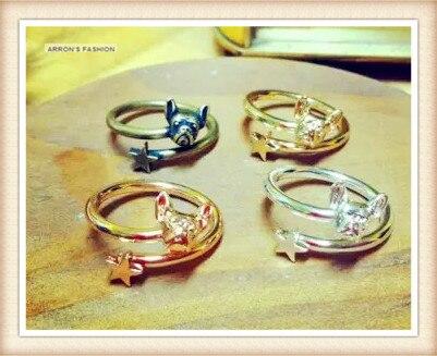 Sensible Mix Colours Wholesale Fashion French Bulldog Dog Ring Free Size Cute Animal Pitbull Ring Jewelry Free Shipping 30pcs/lot Jewelry & Accessories