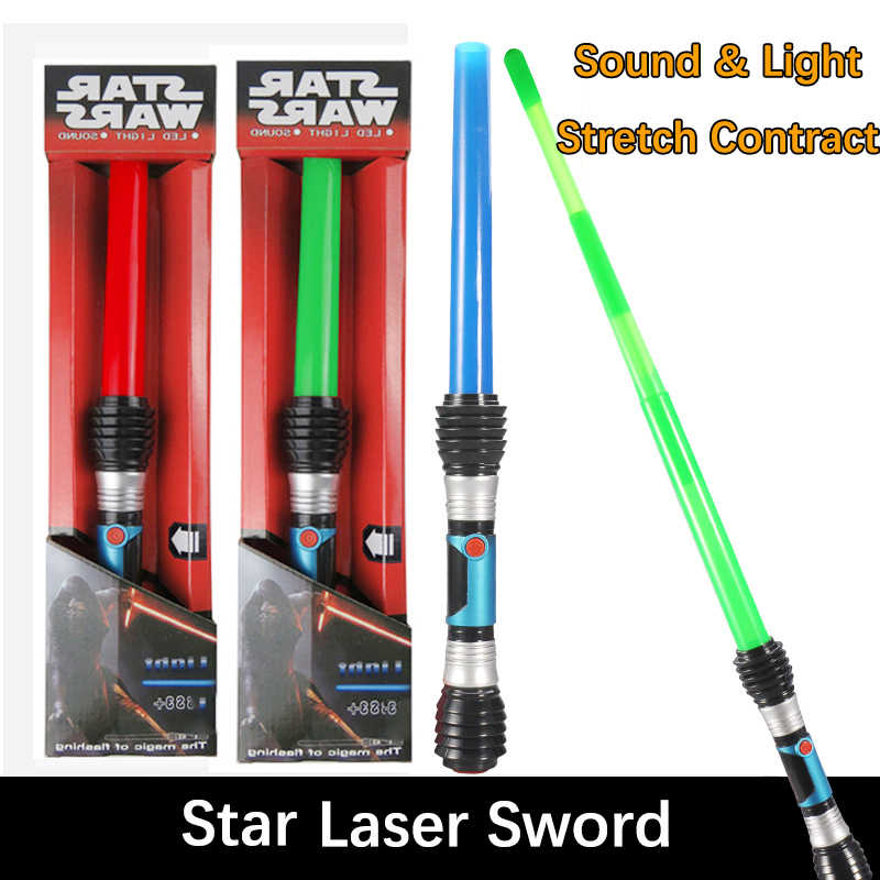 1PCS Star Wars Telescopic LED Lightsaber Sword Toys Cosplay Props With Sound NEW