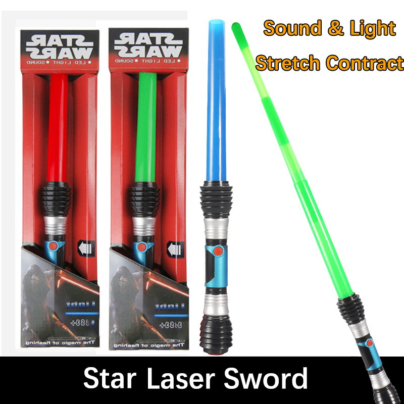STAR WARS TELESCOPIC LIGHTSABER LASER TOY LED LIGHTS SOUND NO BATTERIES