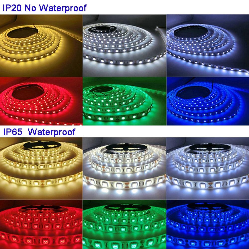 5 m/lotto DC12V 5050 SMD 60 LEDs/m Bianco/Bianco Caldo/Rosso/Verde/Giallo/ blu/Rosa/RGB/UV/RGBW/RGBWW Flessibile Ha Condotto La Luce di Striscia del nastro