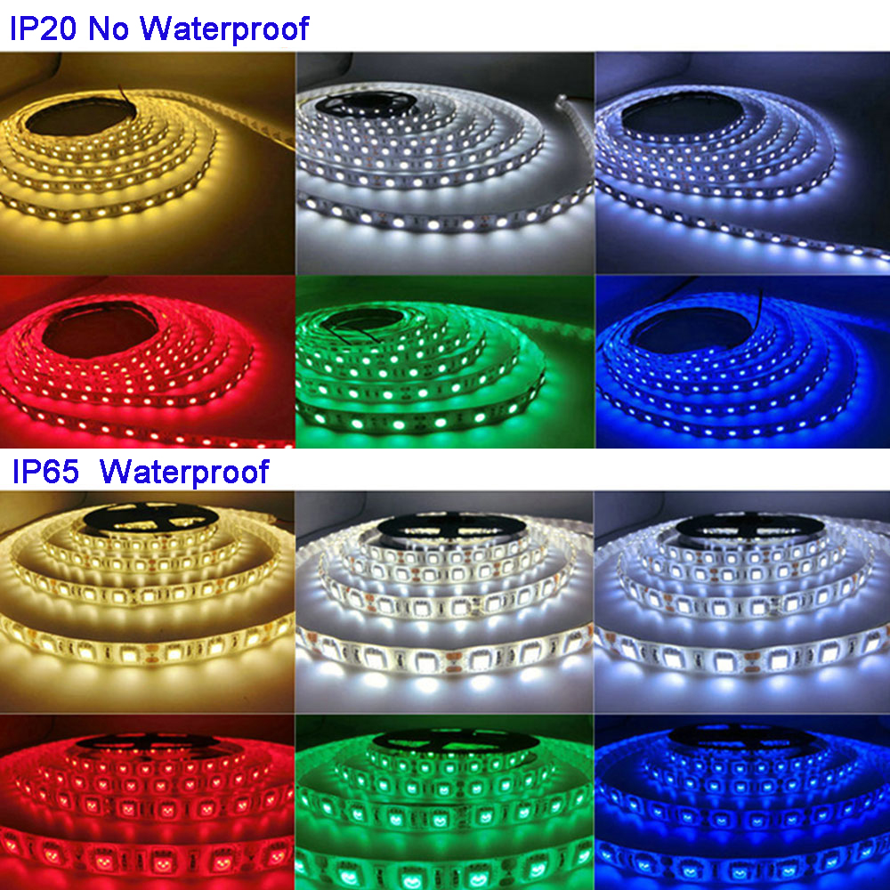 5M/lot DC12V 5050 SMD 60LEDs/m White/Warm White/Red/Green/Yellow/Blue/Pink/RGB/<font><b>UV</b></font>/RGBW/RGBWW Flexible <font><b>Led</b></font> Strip Light tape image