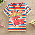 Children's clothing 2017 100% summer cotton t-shirts kids cartoon print short-sleeve tops for girls 100-140cm