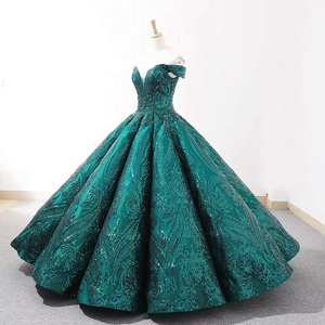 Image 5 - J66661Jancember Ball Gowns Women Quinceanera Dresses Sweetheart  Off The Shoulder Pattern Lace Up vestidos quinceañ рокли за бал