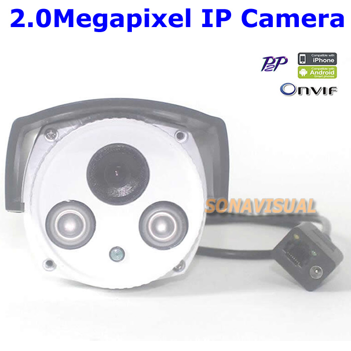 Full HD 1080P 2.0MP IP Camera Outdoor Waterproof IR Night Vision Network CCTV Camera Support Onvif/P2P/Motion Detect Remote View