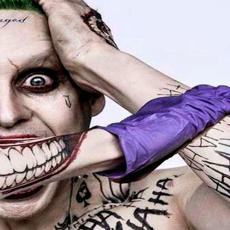 Suicide Squad Joker Kostuum Tattoo Kit Make Tijdelijke Tattoos