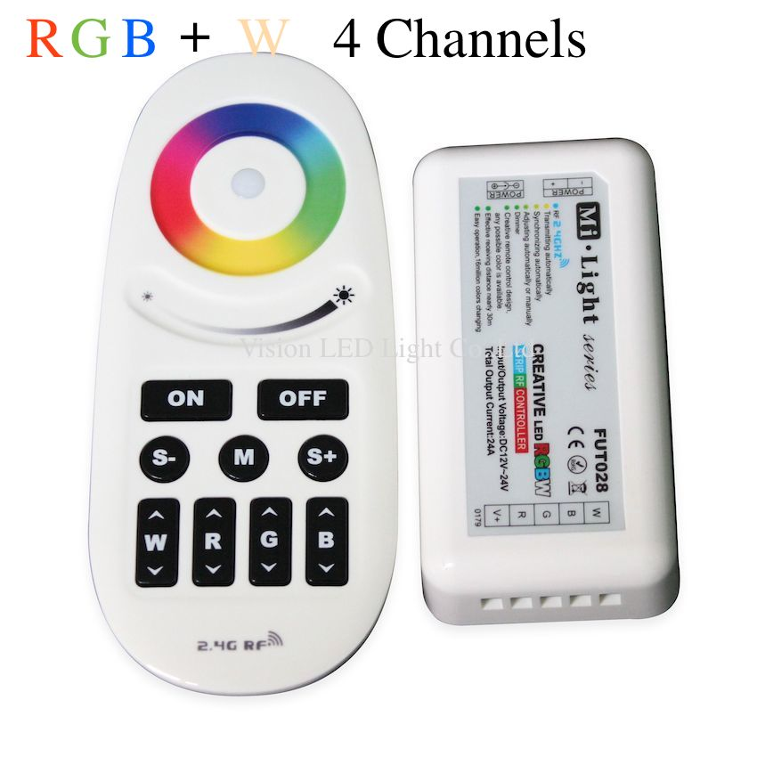 Milight 2.4GHz RF LED Remote controller, <font><b>FUT028</b></font>, RGB W LED Strip Controller RF Touch / Button Remote Control image