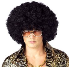 Harajuku Anime Dance Party Afro Wig Cosplay Short Curly Costume Synthetic Fiber Black Wigs Ball Fans Halloween Peruca Pelucas