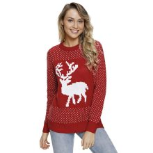 2018 Women Yoga Sweater Coat Hoodies Sportswear for Womens Long Sleeve Round Neck Reindeer in The Snow Christmas Jumper Cardigan(China)