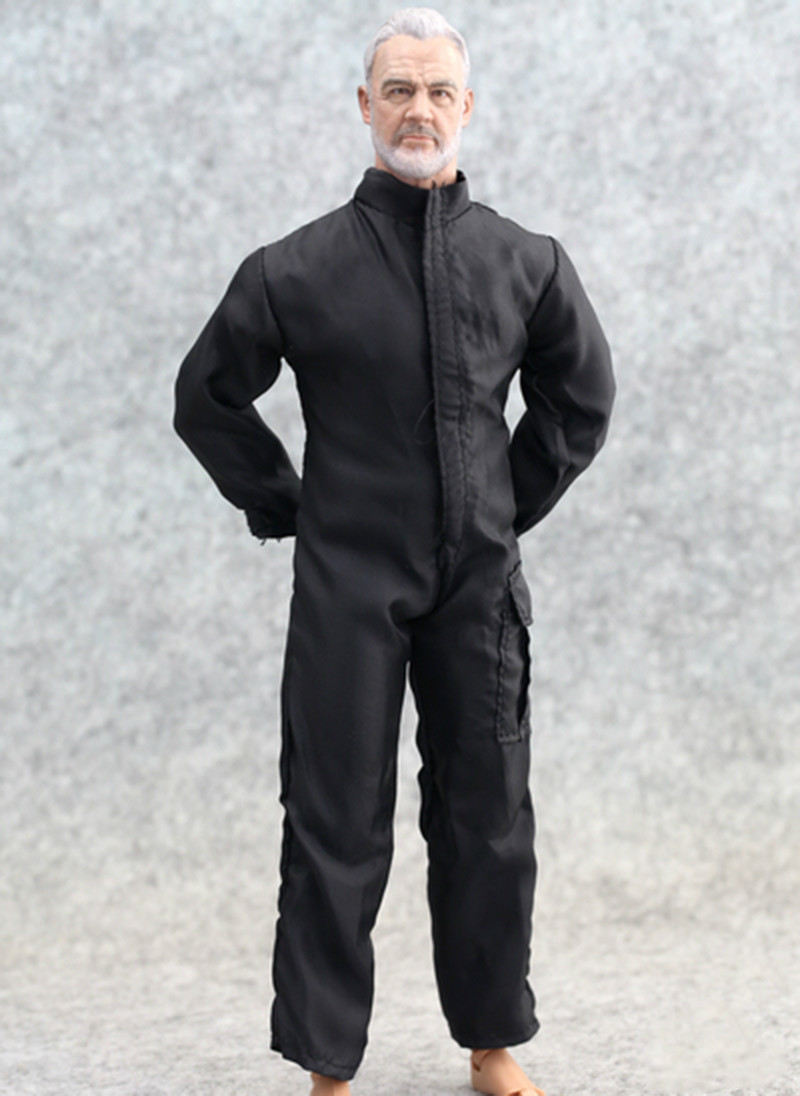 Cheap Toys 1/6 Scale Action Figure Accessories Black Coverall Battle Suit Clothing Set Model For 12