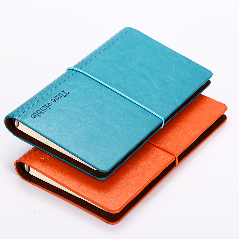 RuiZe 2018 creative loose leaf notebook leather A5 A6 business office notebook notepad agenda spiral note book stationery