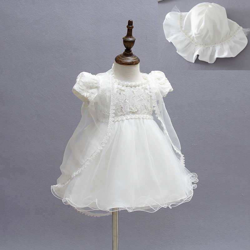 feabf912a 2016 Baby Girl Baptism Christening Easter Gown Dress Embroidery ...