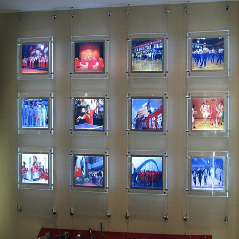 10unit Column A4 Single Sided Wall to Wall Suspended Estate Agents LED Displays Led Window
