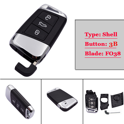 Free shipping GENUINE New type 3 button Card key Case card for VW B8 (1pc/lot)Free shipping GENUINE New type 3 button Card key Case card for VW B8 (1pc/lot)
