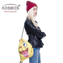 Aosbos Drawstring Gym Bag Sports Shoe Bags For Women Athletic Training Bags Gym Backpack Outdoor Basketball Fitness Bag Camping