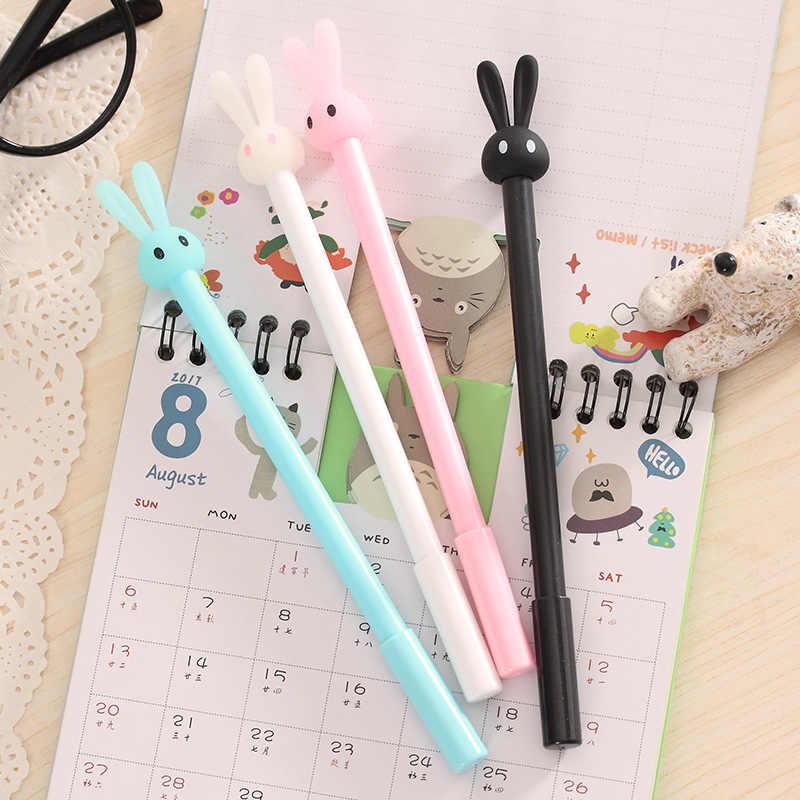 HOT kawaii fluorescente conejo bolígrafos estudiante bolígrafo de la Oficina de la escuela suministros de papelería al por mayor
