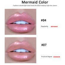 HANDAIYAN Liquid Crystal Glow Lip Gloss Laser Holographic Lip Tattoo Lipstick Makeup Mermaid Pigment Glitter Lip Gloss TSLM2