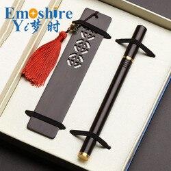 Manufacturers Wholesale Signature Roller Ball Pen Wood Bookmarks Crafts Creative Gift Sets Custom Bookmarks Gel Ink pen M056