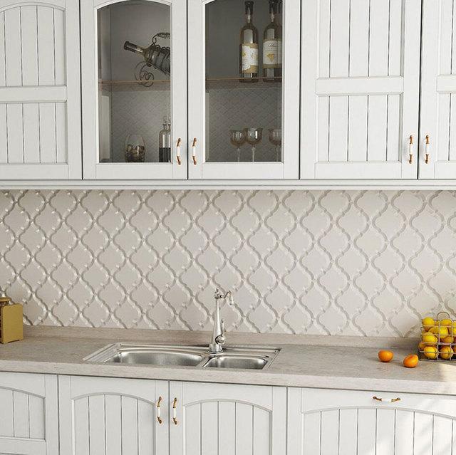 FedEx/DHL Geben Verschiffen Laterne Mosaik Fliesen Backsplash Küche Wand Fliesen  Beige Beliebte Design