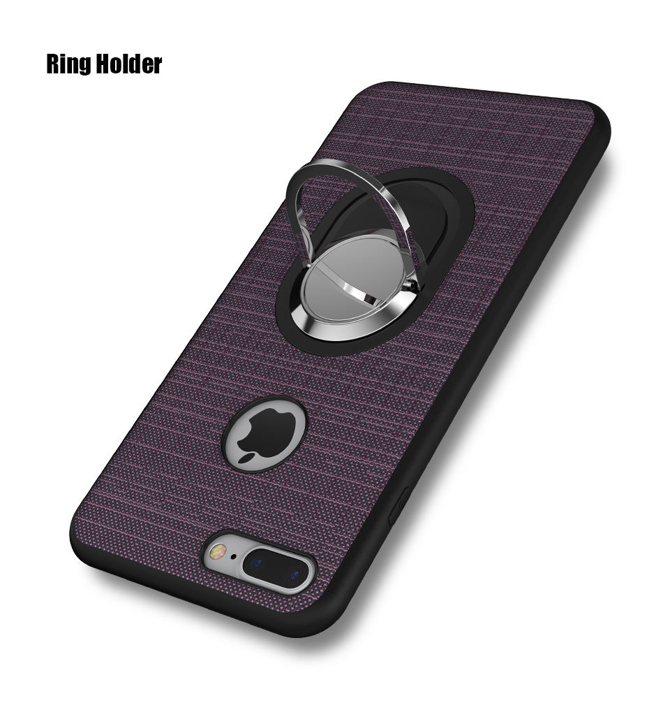Soft Magnetic i 7 6 6S Plus 5 5S Phone Case For iPhone 7 6 6S Plus 5 5S SE 5G Case Luxury 360 Ring Holder For iPhone 7 6 Cover (3)