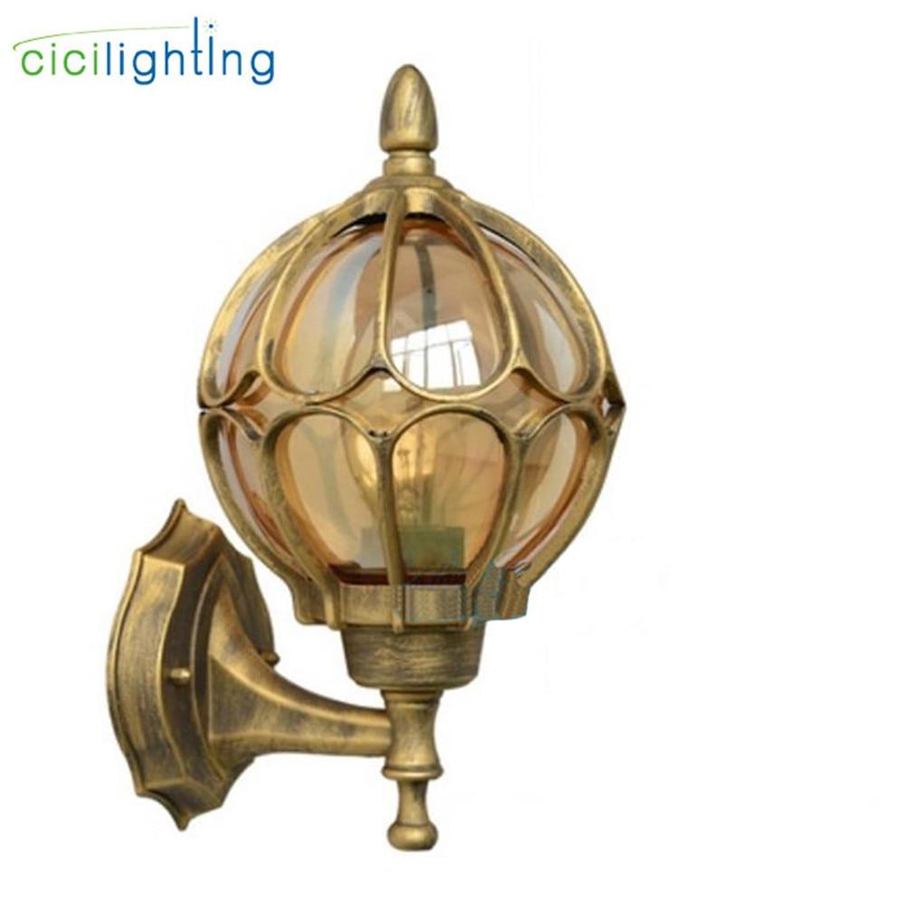 European wall lamp outdoor porch lights villa balcony garden lamps lighting retro iluminacion exterior applique murale luminaire